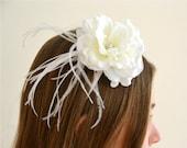 Reserved for Bev- ELLIS-Flower Girls, Flower Hair Clip, Bridal Headpiece, Wedding Hair Accessory, Wedding Hair Flowers,