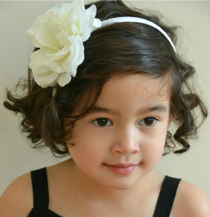 Flower Girl Wedding Hairstyles: Flower Girl Wedding Headband Flower Headband-Wedding Hair