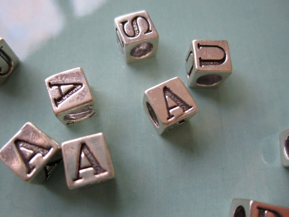 Sterling Silver 5mm Alphabet Beads
