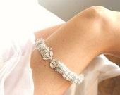 Custom Order for polinavs - Twinkling White Garter Set
