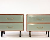 RESERVED FOR LEKATZEN - Pair of Upcycled Mid-Century Nightstands
