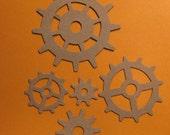 25 Piece TIM HOLTZ Alterations Heavy Chipboard Die Cuts Gears Wheels Cogs