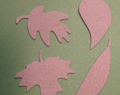 16 Piece Sizzix Heavy Chipboard Die Cuts Leaves 4 Styles