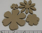 20 Piece TIM HOLTZ Alterations Heavy Chipboard Die Cuts Flowers Floral Spring