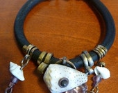 Leather and Shell Bracelets