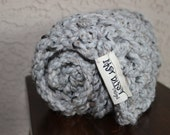 Baby blanket-my itsy bitsy blankie-MIXED GRAY-baby shower or birth gift