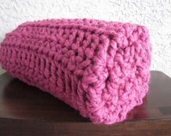 Baby Blanket-My itsy bitsy BIG blankie-Raspberry pink-square swaddling baby blanket-baby shower or valentines gift
