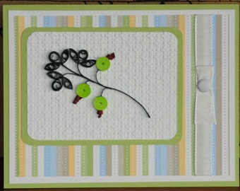 Quilled Gooseberries All Ocassion Blank Card