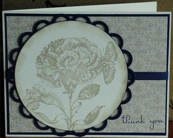 Victorian Flower Thank You Card