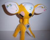 Meet Peragon Sparkle Upcycled plush doe fawn bambi deer