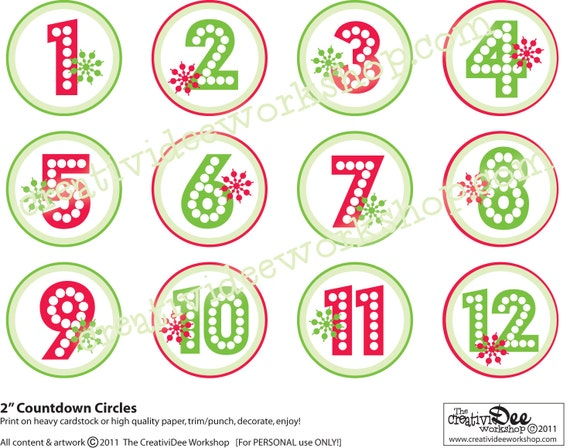 Advent Calendar Or Holiday Countdown DIY By