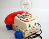 Vintage FISHER PRICE Toy Phone Lamp