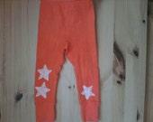 Baby Orange Star Leggings