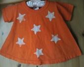 Little Girls Orange Star Swing Dress