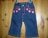 Baby Heart Applique Jeans