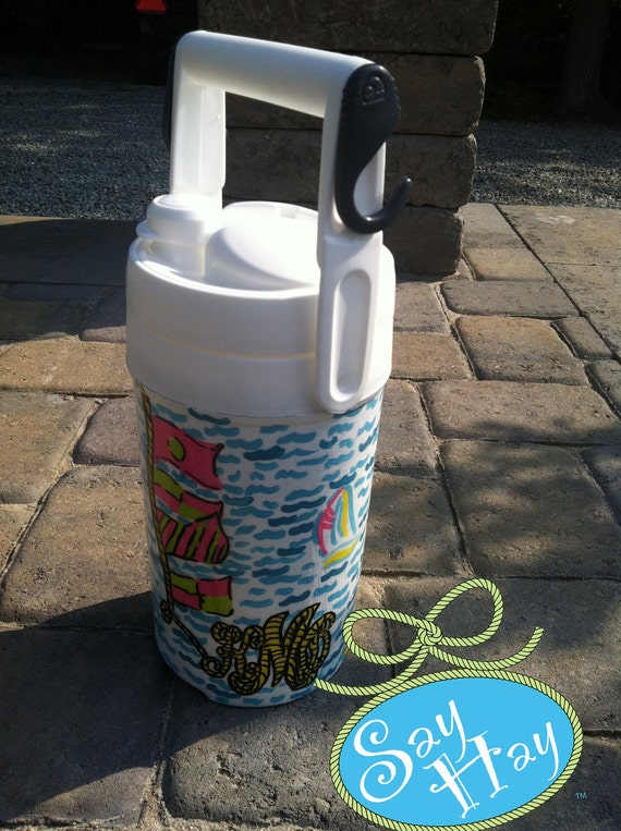 Personalized Monogram Cooler inspired by Lilly Pulitzer prints