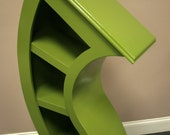 Handmade 4ft Curved Bookshelf, choose color