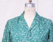 Vintage 1970s emerald green blouse