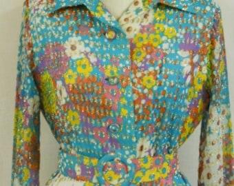 """Vintage 1970's """"Felix Arbeo"""" Couture Dress"""