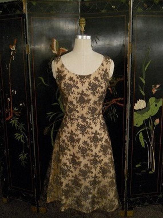 Reserved...1950's Vintage Lace Cocktail Dress