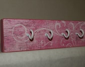 Key Chain Hooks/Hangers/Organizers  (Pink Antiqued)