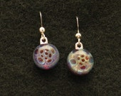 Handmade Glass Earrings w/ sterling silver plated findings MGP Free Shipping