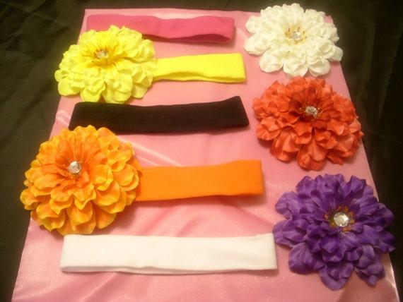 Zinnia Flower Baby Headbands