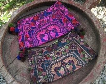 2 Hmong Vintage Style Ethnic Thai Boho Hobo Medium Size Shoulder Bags