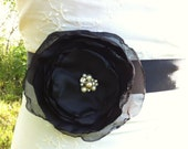 SALE Black Wedding Sash Belt... bridesmaids sash Wedding Day Sash Belt... Bridal, Prom, Ball , Portraits....