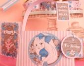 Alice in Wonderland EDITABLE Party Stationery Set