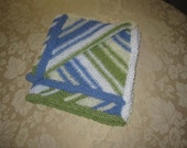 Cyber Monday - 15% off or free domestic shipping - Ready to ship: Baby Boy Sweet Dreams Hand Knitted Blanket