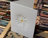 Made With Love: love me not -- letterpress card