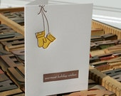 Simply Put: warmest holiday wishes --- letterpress card