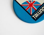 Vintage USSR Soviet Union Pin - Olympic Games 1980 - Great Britain Tallinn'80 - Blue Red