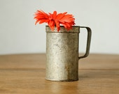 Vintage Metal Can - Shabby Chic Home Decor - Garden - Planter - Vase