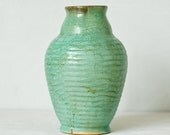Vintage Sea Green Ceramic Vase - Mother's Day - Gift for Women - Home Decor - teamcamelot
