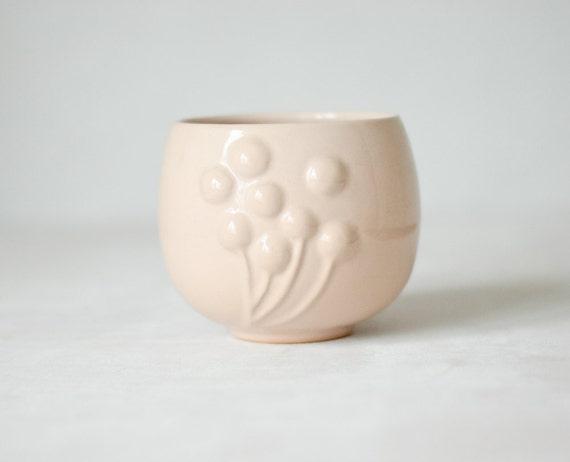 Light Pink Vintage Vase - Ceramic Vase - Mother's Day Gift - Home Decor