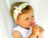 "Beautiful Hair Accessories ""Daisy""  for baby girls / headband / girls fashion, crocheted accessory,spring-summer,READY TO SHIP"