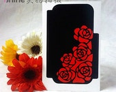 113x73mm Red Rose STICKER Deco Cell Phone Case ,2 pc