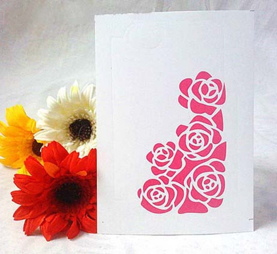 113x73mm Pink Rose STICKER Deco Cell Phone Case ,2 pc