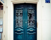 Green Door, Latin Quarter, Paris, France  Fine Art Photograph 8x10 - Other sizes available.