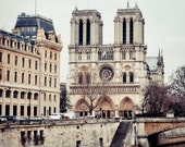 SPECIAL LISTING for Sarah: Notre Dame de Paris and the Seine, Vertical 8x10
