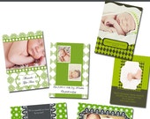 Knucklehead 5 x 7 Birth Announcement-Templates for Photographers
