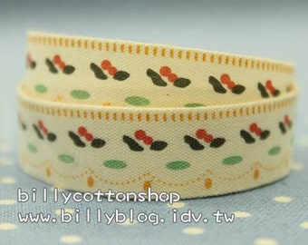 V141 - cotton tape/ sewing tape/ Ribbon - cotton - flowers
