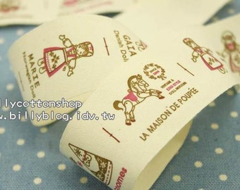 V146 - cotton tape/ sewing tape/ Ribbon - cotton - celebration