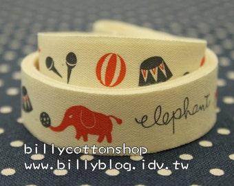 V164 - cotton tape/ sewing tape/ Ribbon - cotton - elephant