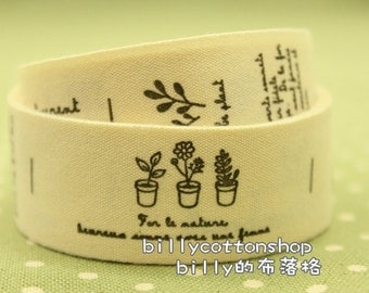 V183 - cotton tape/ sewing tape/ Ribbon - cotton - customer order