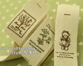 V186 - cotton tape/ sewing tape/ Ribbon - cotton - trees