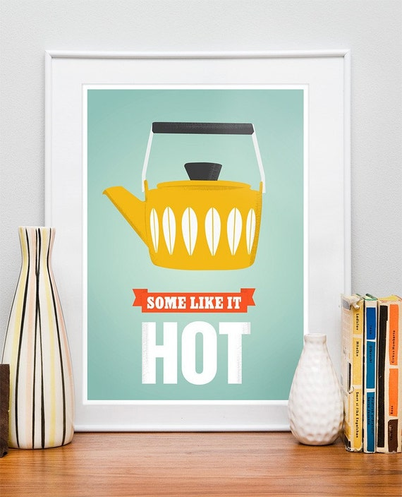 Coffee Kitchen Print Cathrineholm Poster Tea Poster Retro