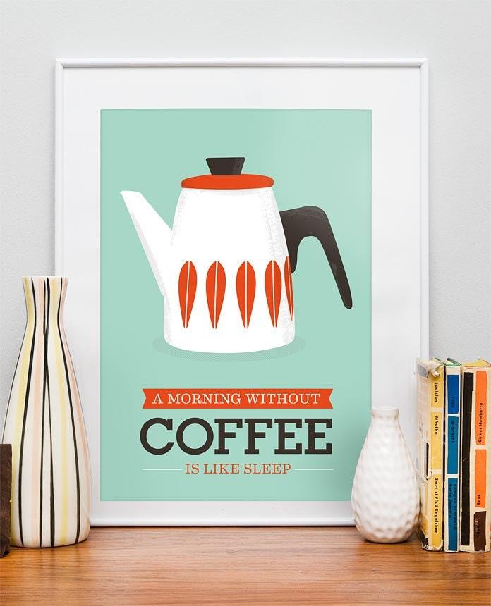 Art For Kitchen Cathrineholm Kitchen Print Coffee Print